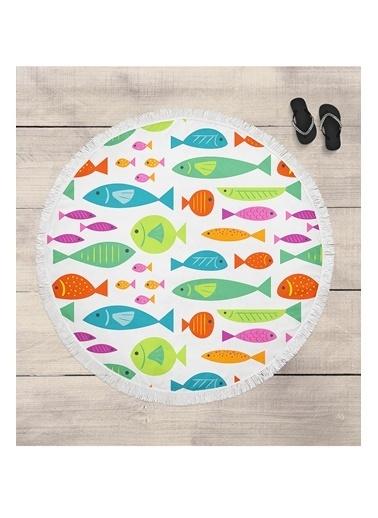 Lyn Home & Decor Renkli Balıklar Çok Amaçlı Örtü Renkli